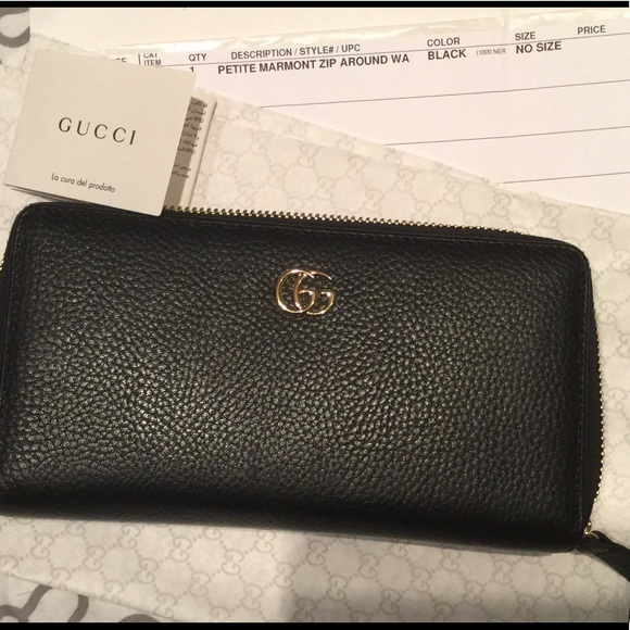 26c802c34c1f Gucci Bags | Authentic Petite Marmont Leather Zip Wallet | Poshmark